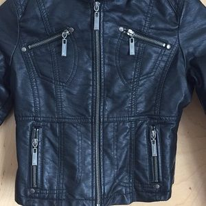 b1e1ed704 🎉2xHP🎉🆕 Kids vegan leather jacket (size 10/12) NWT